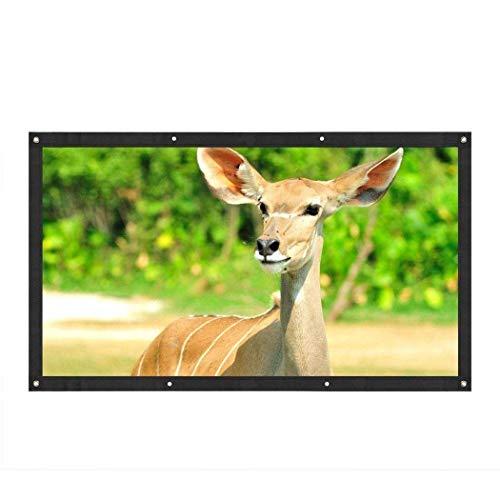 220 x 125 cm HD-Projektor-Bildschirm, tragbare Video-Bildschirm Widescreen faltbare Anti-Falten-Indoor-Outdoor-Projektor-Filmleinwand Heimkino-Unterstützung doppelseitige Projektion