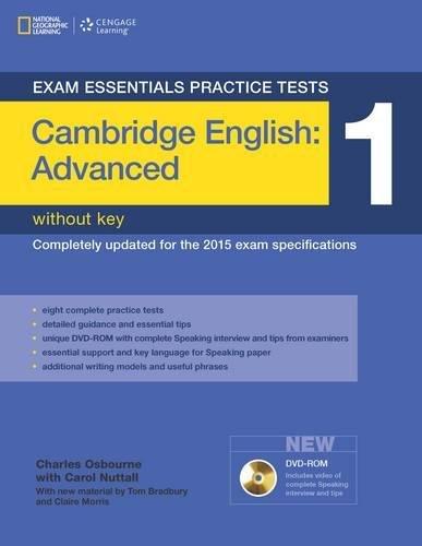 Exam essentials practice tests: Cambridge English: advanced. Without key. Per le Scuole superiori. Con DVD-ROM: 1