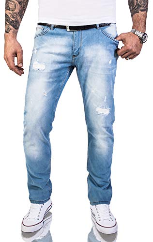 Jean-rock (Rock Creek Herren Jeans Hose Regular Slim Stretch Jeans Herrenjeans Herrenhose Denim Stonewashed Basic Stretchhose Raw RC-2144 Hellblau W40 L34)