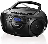TOSHIBA 2724468509636 Ty-Cku310 Portable Cd Usb Radio Cassette Recorder, Black