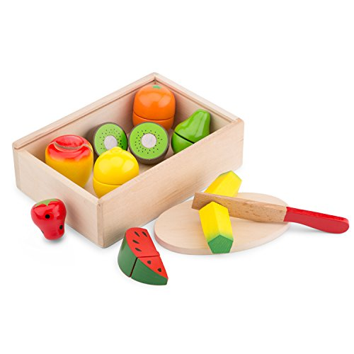 New Classic Toys 10581 - Kitchen & Food Toys - Cutting Meal - Fruit Box
