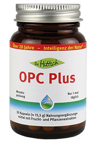 OPC Plus - 30 Traubenkernextrakt Kapseln - Antioxidantien reinigen Ihren Körper von innen und stärken die Abwehrkraft. OPC Plus von Dr. Hittich