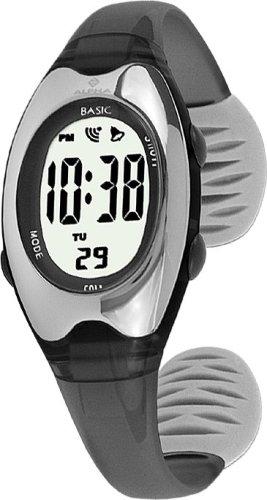 Alpha Saphir Alpha Saphir 169A - Reloj digital de mujer de cuarzo con correa de plástico gris (cronómetro) - sumergible a 50 metros