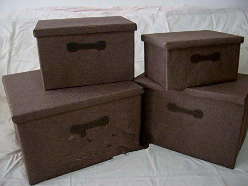 Axiba Linge De Maison Boîte De Rangement De Cassette De Rangement Plié Et Rangé Finition Boîte Carrée,48 * 32 * 30