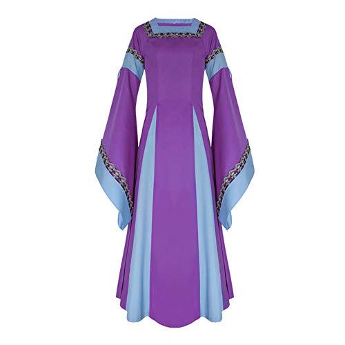 ♥ Loveso♥ Fashion Damenbekleidung Damen Mittelalterliche Kleid mit Trompetenärmel Mittelalter Party Kostüm Maxikleid Elegante ()
