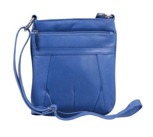 Borsellino da donna LEMONDO, Vera Pelle, 23x20x4cm Blue