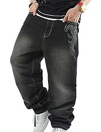 Dexinx Uomo Ragazzi Exquisite Baggy Embroidery Stampa Dancing Jeans  Primavera Popolari Pantaloni Hip Hop in Denim e2c712563e73