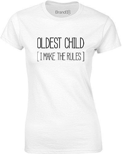 Brand88 - Oldest Child, Mesdames T-shirt imprimé Blanc/Noir