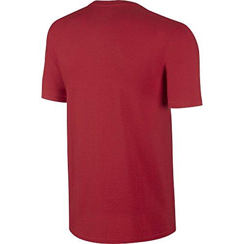 Nike–Pantaloni sportivi m Nsw, Hangtag Swoosh tee University Red/Anthracite