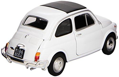 Welly 18009 white - Sammlermodell Fiat Nuova 500 1957, 1/18 aus Metall, weiß