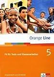 Orange Line / Fit für Tests und Klassenarbeiten Band 5: Arbeitsheft mit CD-ROM