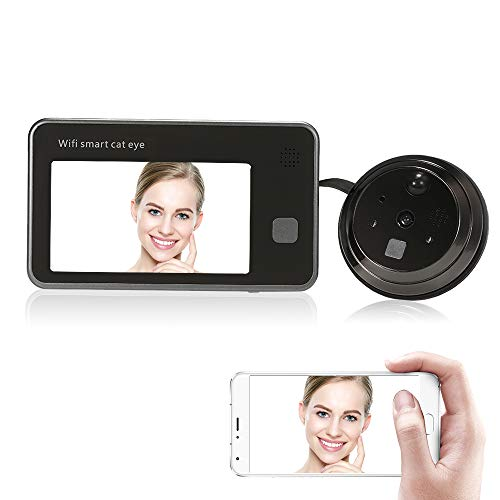 """OWSOO Mirilla Digital Inalámbrica 4.3\"""" 720P WiFi Visor de Puerta Audio de 2 Vías HD 1.0MP Soporte Detección de Movimiento PIR Almacenamiento en Nube Control Remoto de Android iOS App"""