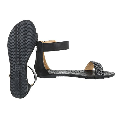 Ital-Design , Spartiates femme Noir