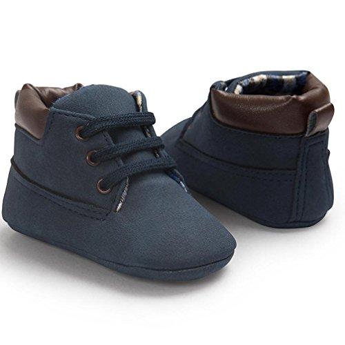 Baby Kinder Weiche Sohle Leder Schuhe, Zolimx Junge Mädchen Kleinkind Boots Dunkelblau