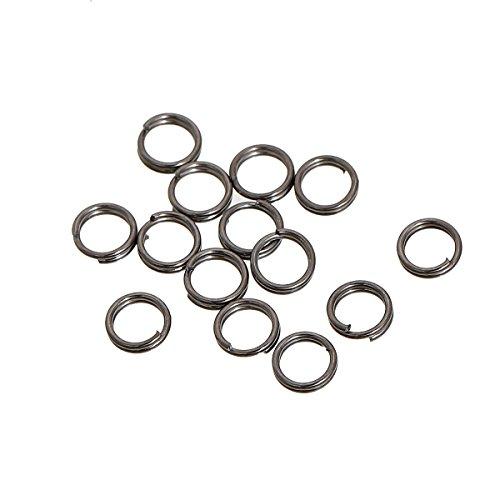 SiAura Material 200x Anneaux Ouverts D. 5 mm, Gris métallique