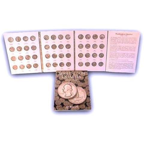 Washington Quarters 1932-1947 HE Harris Coin Folder by H.E. Harris