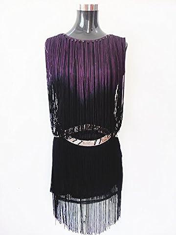Byjia Gland De Paillette Robe De Danse Latine . Purple . F