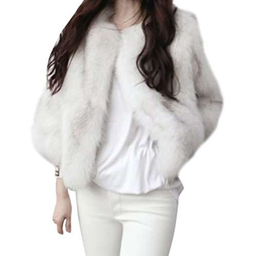 pelliccia corta bianca ecologica usato Spedito ovunque in Italia Altre  foto. Amazon 410b1bb6c88