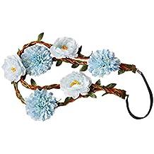Sumolux 1 Coronas de Flores Diadema de Flores Adorno de Pelo Accesorio para Cabeza Girnalda Floral Estilo Boho Para Niña Chica Mujer Fiesta Boda Viaje Fotografía