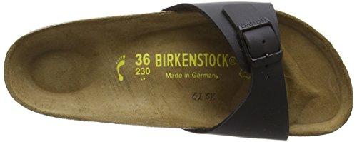 BIRKENSTOCK Classic Madrid Birko-Flor Damen Pantoletten Schwarz