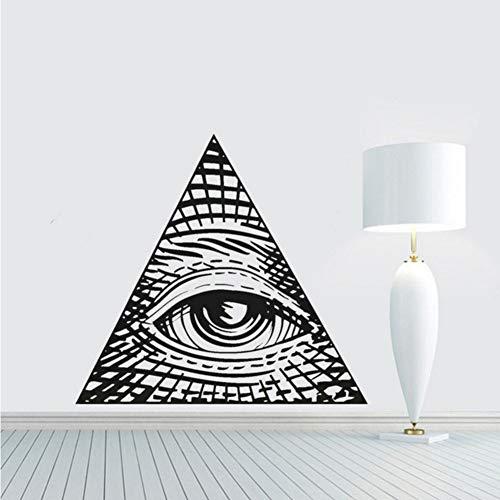 mzdzhp Wandaufkleber Auge Der Vorsehung Vinyl Wandtattoo Wohnkultur Diy Kunstwand Tapete Entfernbare Wandaufkleber 58X63 cm