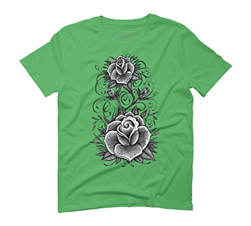 Rose Swirls Men's Graphic T-Shirt - Design By Humans Green