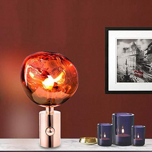 Nordic Persönlichkeit Wohnzimmer Schlafzimmer Nachttisch Tom DIXON Tischlampe Kunst Unregelmäßige Form Beschichtung Lava Dekorative Lampe, Stehlampe, Silber - Stehlampe, Lava-lampe