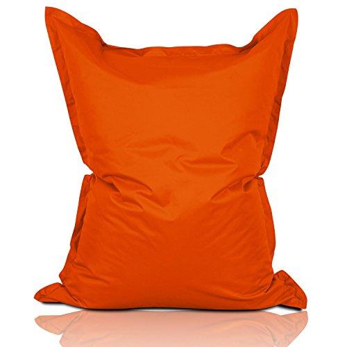 Lumaland poltrona sacco pouf puff xxl 380l imbottitura innovativa 140 x 180 cm per interni ed esterni colore arancione