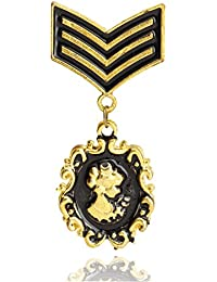 Queen's Medal Of Honor Stud Brooch For Men. Customs Men's Handmade Boutonniere, Brooches By WI Retail