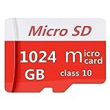 Carte Micro SD 1024 Go, Micro SDXC UHS-I Haute Vitesse, pour appareils Photo numériques, téléphones Portables, tablettes, GPS, PC Classe 10, vidéo Full HD