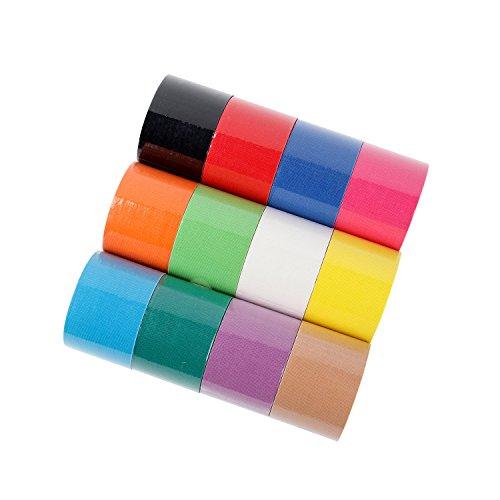 FITOP Kinesiologie Tape 12 Rollen Sport Tape in Verschiedenen Farben
