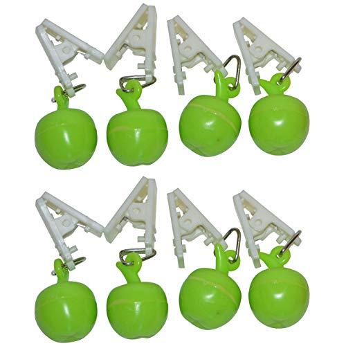 all-around24 Tischdeckenbeschwerer Tischtuchbeschwerer Tischdeckenklammer Tischdeckenhalter (8 Stück - Apfel)