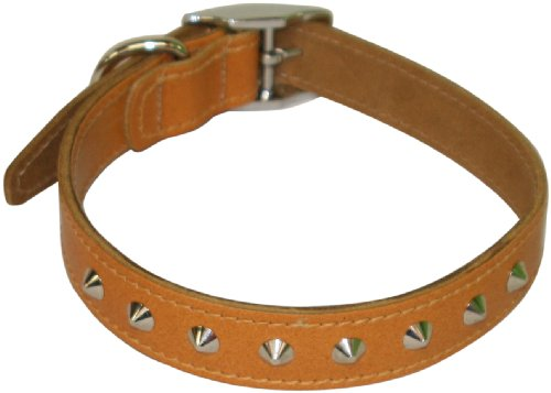 bbd-14-16-inch-studded-leather-collar-tan