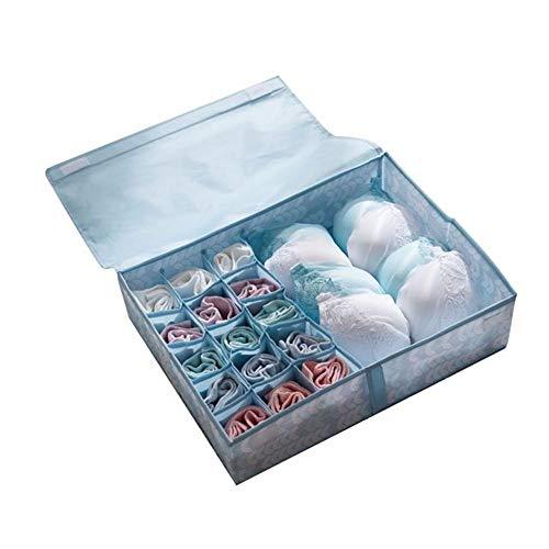 PiPisun-BOX Aufbewahrungsbox Set Schubladenunterteilungen Schrankorganisatoren BH Unterwäsche Dessous Socken Krawatte Aufbewahrungsboxen. Unterwäsche Socken Aufbewahrungstasche (Farbe : Blau) (Baby-schrank-teiler-blau)
