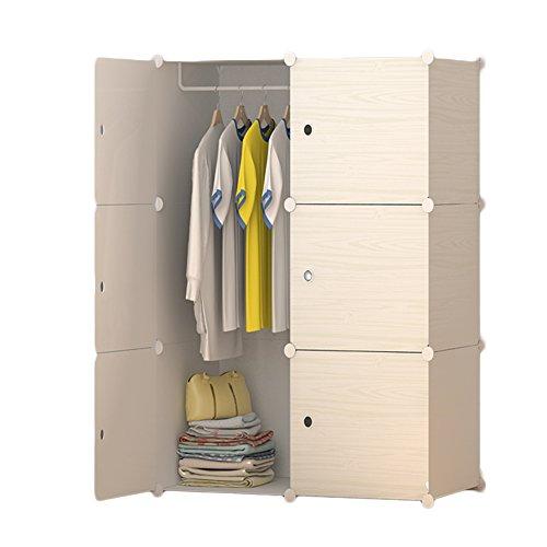 Preisvergleich Produktbild ETTBJA Kleiderschrank Kleiderschrank Speicher Organizer Deeper Cube Portable Resin Kunststoff 75 * 48 * 110 Size4