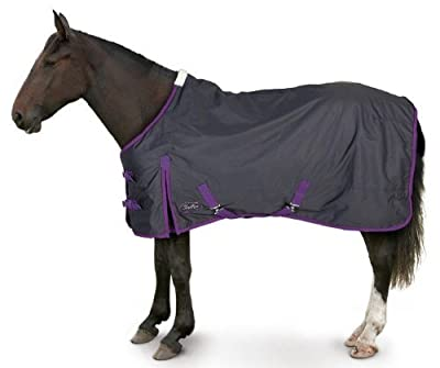 Gallop Lite-Weight Trojan Turnout Rug - Navy/Purple - inexpensive UK light store.