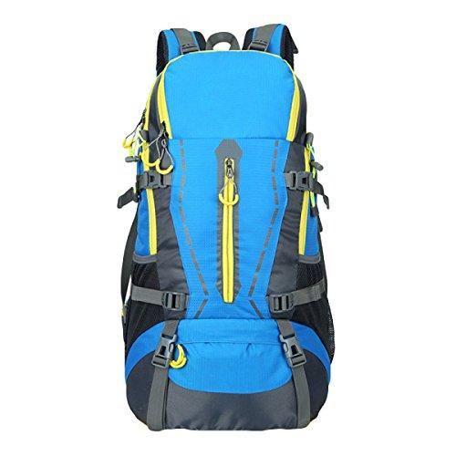 LQQAZY Extérieur Imperméable à L'eau 40L Grande Capacité Sac D'alpinisme Masculin Sac De Voyage Féminin Sac à Bandoulière Sac De Sport,Blue