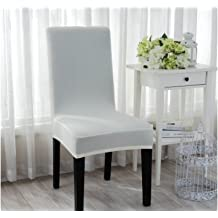 zhoke fundas extrables lavables de silla para hotel restaurante comedor gris gris