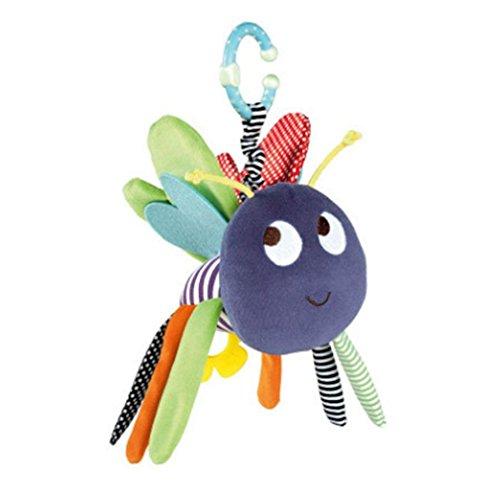 Kinderwagen-Spielzeug zum Aufhängen, weiches Plüschtier-Glocke, Rassel, Beißring, Spielzeug, Musikalisches Lernspielzeug für Baby und Kleinkinder
