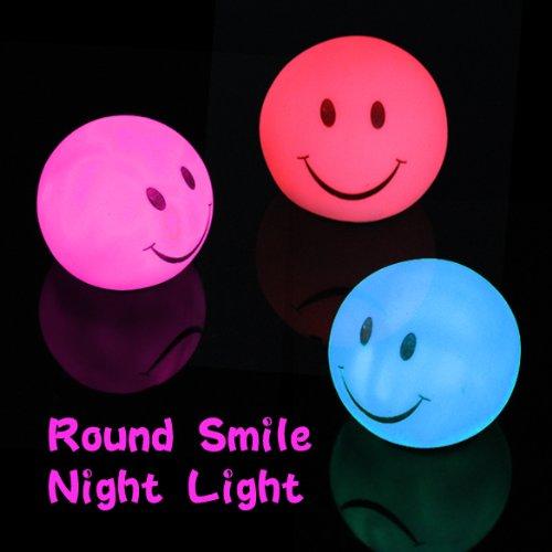 matefield Neuheit Lampe wechselnde Farbe LED Energy Nachtlicht Magic rund SMILE