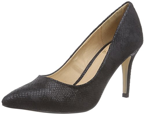 La Strada Schwarzer Schlangen-Look Pumps, Decolleté chiuse donna, Nero (Schwarz (1501 - croco/snake black)), 37