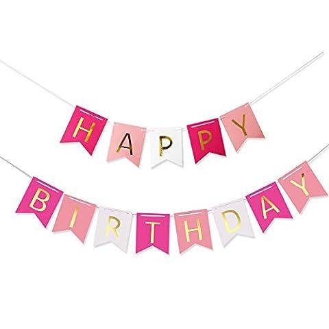Pixnor Bunte Happy Birthday Girlande Banner Geburtstag