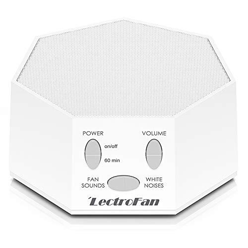 LectroFan ASM1007-G Weißes Rauschgerät mit Lüftergeräuschen und Schlaf-Timer, weiß