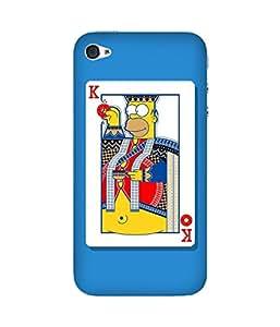 Simpson King Apple iPhone 4/4S Case