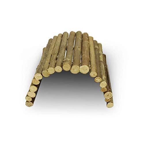 1PC Holz Reptil Leiter Zaun Toy S Größe für Schildkröte Lizard Snake Aquarium Holz Biegsame Hideout Brücke