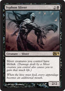 Magic: the Gathering - Syphon Sliver (117/249) - Magic 2014 by Magic: the Gathering