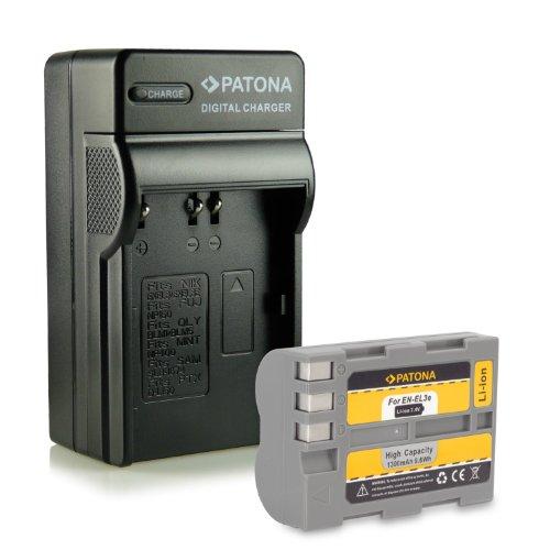 Novità - 4in1 Caricabatteria + Batteria como EN-EL3e per Nikon D50   D70s   D80   D90   D200   D300   D300s   D700