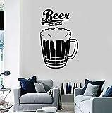 Vinile Adesivo Boccale Di Schiuma Di Birra Alcol Pub Bar Birreria Decorazione Di Interni Art Window Adesivi In Vetro Grano Murale 42X65 Cm