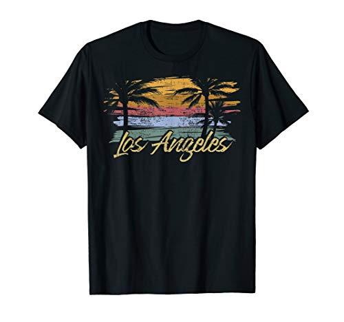LA Los Angeles Vintage 1970er Jahre Look Geschenkidee T-Shirt (1970er-shirt)