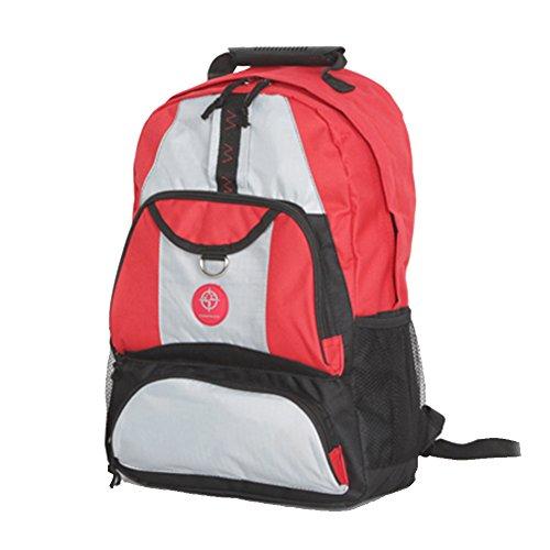 Friendz Trendz-Shield Maglia zip laterale tasche dei bagagli di Carry Daypack Zaino (black/navy/grey) black/red/grey